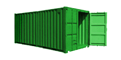 20′ Storage Container w/Roll Up Door